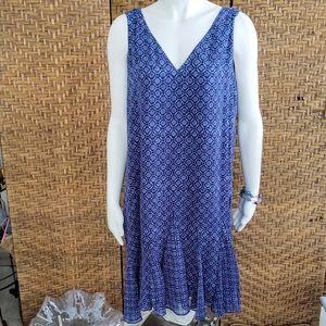 Ralph Lauren V Neckline Ruffle Dress NWT 14